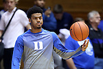 04 November 2014: Duke's Quinn Cook. The Duke University Blue Devils hosted the Livingstone College Blue Bears at Cameron Indoor Stadium in Durham, North Carolina in an NCAA Men's Basketball exhibition game.