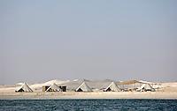 A luxury beach camp on the coast of Oman organised by Hud Hud Travels