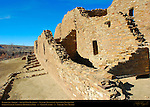 South Wall and Buttress, Pueblo del Arroyo Chacoan Great House, Anasazi Hisatsinom Ancestral Pueblo Site, Chaco Culture National Historical Park, Chaco Canyon, Nageezi, New Mexico