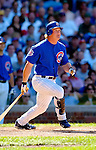 2 July 2005: Todd Hollandsworth, outfielder for the Chicago Cubs, hits a double in the 5th inning against the Washington Nationals. The Nationals defeated the Cubs 4-2 in front of 40,488 at Wrigley Field in Chicago, IL. Mandatory Photo Credit: Ed Wolfstein