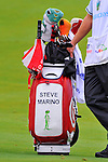 29 August 2009: Steve Marino's golf bag during the third round of The Barclays PGA Playoffs at Liberty National Golf Course in Jersey City, New Jersey.