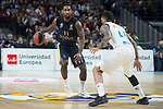 Real Madrid Jeffery Taylor and Fenerbahce Dogus Brad Wanamaker during Turkish Airlines Euroleague match between Real Madrid and Fenerbahce Dogus at Wizink Center in Madrid , Spain. March 02, 2018. (ALTERPHOTOS/Borja B.Hojas)
