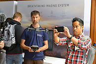 Product demo at The Standard High Line Hotel for Parrot Anafi drones.