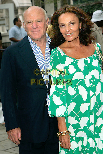 DIANE VON FURSTENBERG & HUSBAND.Out and about in NYC, New York, New York, USA..September 10th, 2006.Ref: ADM/JL.half length married wife black suit jacket green white pattern dress.www.capitalpictures.com.sales@capitalpictures.com.©Jackson Lee/AdMedia/Capital Pictures.