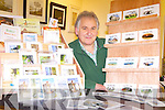 ON THE CARDS: Steve Baker from Ardfert with his selection of greeting cards, one of the offerings of the local indoor market in the local community centre every Sunday.
