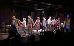 Joel Blum, Laura Darrell, Daniel Jenkins, Karen Ziemba, Brandon Flynn, Jeffry Denman, Dee Roscioli, Ann Ariva and Blake Zolfo  during the opening night performance curtain call for the Vineyard Theatre's 'Kid Victory' at the Vineyard Theatre on February 22, 2017 in New York City.