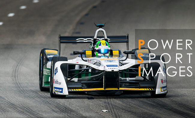 Lucas di Grassi of Brazil from Audi Sport ABT Schaeffler on track at the Formula E Non-Qualifying Practice 3 during the FIA Formula E Hong Kong E-Prix Round 2 at the Central Harbourfront Circuit on 03 December 2017 in Hong Kong, Hong Kong. Photo by Victor Fraile / Power Sport Images