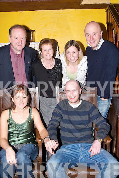 ENGAGEMENT: Catriona Turner announced her engagement to Scott Ross (Scotland) at Finnegan's Restaurant, Denny Street, on Thursday night. Catriona is daughter of Gerry and Carmel Turner of Turners Bar - she is nursing in the Bons. Ross works with Gerry in the Bar. Also in pic is, Sarah Minihan and Aidan Turner..