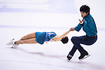 Miu Suzaki and Narumi Takahashi of Japan compete in Pairs group during the Asian Open Figure Skating Trophy 2017 on August 03, 2017 in Hong Kong, China. Photo by Marcio Rodrigo Machado / Power Sport Images