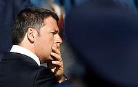 Il Presidente del Consiglio Matteo Renzi alla Festa della Repubblica, a Roma, 2 giugno 2014.<br /> Italian Premier Matteo Renzi attends the Republic Day in Rome, 2 June 2014.<br /> UPDATE IMAGES PRESS/Riccardo De Luca