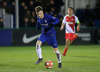 Charlie Brown of Chelsea in action during Chelsea Under-19 vs AS Monaco Under-19, UEFA Youth League Football at the Cobham Training Ground on 19th February 2019