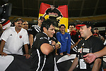 20 Octoboer 2007: Marco Etcheverry is honored by supporters group Barra Brava after the game. The 1997 DC United team defeated Hollywood United 2-1 in the Marco Etcheverry tribute match played before a regular season MLS game at RFK Stadium in Washington, DC.