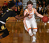 Kyle Murphy #12 of Chaminade, right, gets pressured by John Harewood #1 of St. Anthony's during the Nassau-Suffolk CHSAA varsity boys basketball semifinals at LIU Post on Sunday, Feb. 26, 2017. Chaminade won by a score of 66-50.