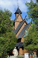 Stabholzkirche Wang in  Karpacz, Woiwodschaft Niederschlesien (Wojew&oacute;dztwo dolnośląskie), Polen, Europa<br />  Stave Church Wang in Karpacz, Poland, Europe