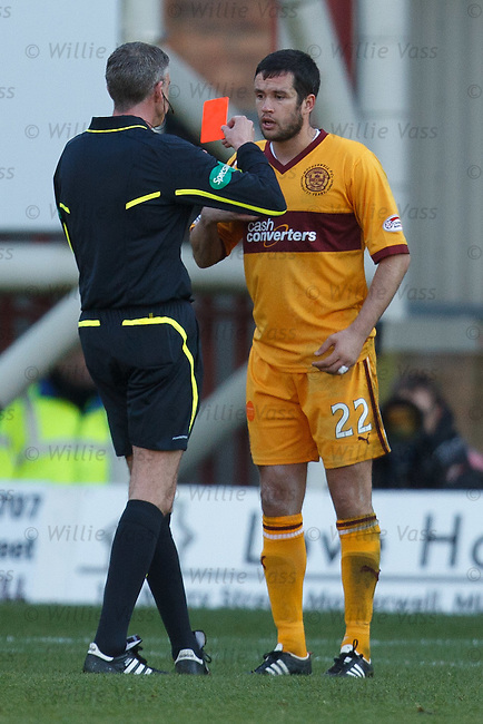 Red card for Motherwell's Tim Clancy