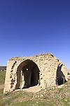 Israel, Menashe Heights, ruins of Hanot Kira overlooking Yokneam