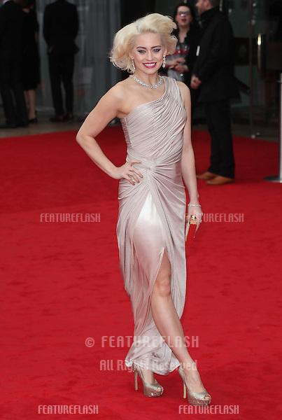 Kimberley Wyatt arriving for the TV BAFTA Awards 2013, Royal Festival Hall, London. 12/05/2013 Picture by: Alexandra Glen / Featureflash