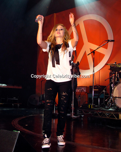 Avril Lavigne performing..Race to Erase MS Hosted by Nancy Davis – Inside..Hyatt Regency Century Plaza Hotel..Century City, CA, USA..Friday, May 07, 2010..Photo ByCelebrityVibe.com.To license this image please call (212) 410 5354; or Email:CelebrityVibe@gmail.com ;.website: www.CelebrityVibe.com.