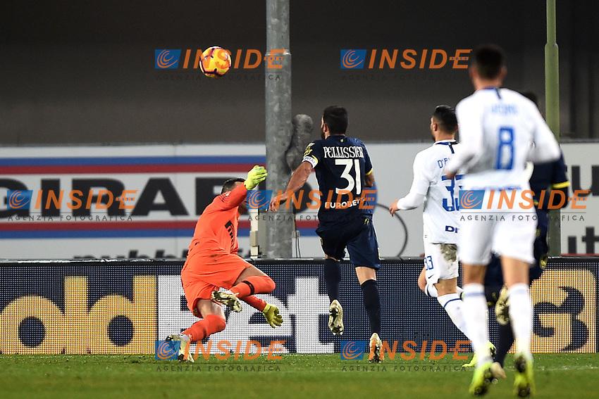Sergio Pellissier of AC Chievo Verona scores goal of 1-1 during the Serie A 2018/2019 football match between Chievo Verona and Inter at stadio Bentegodi, Verona, December 22, 2018 <br />  Foto Daniele Buffa / Image Sport / Insidefoto