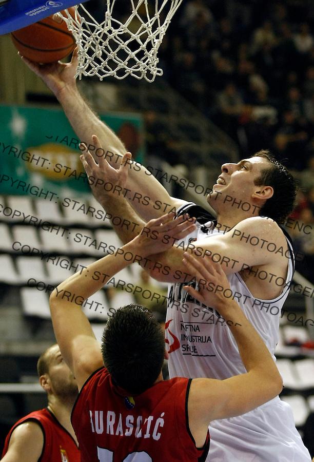 Kosarka, NLB League, sezona 2009/2010.Partizan Vs. Bosna (Sarajevo).Aleksandar Maric, right.Belgrade, 07.11.2009..foto: Srdjan Stevanovic/Starsportphoto ©