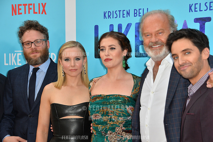 Seth Rogen, Kristen Bell, Lauren Miller Rogen &amp; Paul W. Downs at the Los Angeles premiere of &quot;Like Father&quot; at the Arclight Theatre, Los Angeles, USA 31 July 2018<br /> Picture: Paul Smith/Featureflash/SilverHub 0208 004 5359 sales@silverhubmedia.com