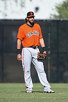San Francisco Giants outfielder Michael Morse (48) during an Instructional League game against the Milwaukee Brewers on October 10, 2014 at Maryvale Baseball Park Training Complex in Phoenix, Arizona.  (Mike Janes/Four Seam Images)