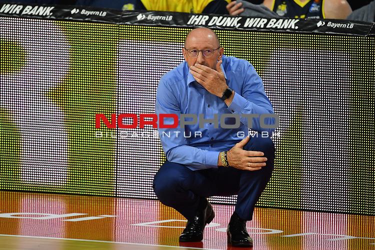 Mladen DRIJENCIC (Trainer Ol),<br /> skeptisch,<br /> <br /> Basketball 1.Bundesliga,BBL, nph0001-Finalturnier 2020.<br /> Viertelfinale am 18.06.2020.<br /> BROSE BAMBERG-EWE BASKETS OLDENBURG,<br /> Audi Dome<br /> <br /> Foto:Frank Hoermann / SVEN SIMON / /Pool/nordphoto<br /> <br /> National and international News-Agencies OUT - Editorial Use ONLY