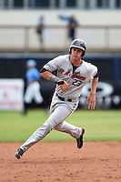 Fort Myers Miracle outfielder Max Kepler (23) runs the bases during a game against the Charlotte Stone Crabs on April 16, 2014 at Charlotte Sports Park in Port Charlotte, Florida.  Fort Myers defeated Charlotte 6-5.  (Mike Janes/Four Seam Images)
