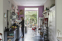 Owner Alisa Barry in her newly renovated London kitchen