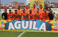 ENVIGADO- COLOMBIA, 09-09-2018.Formación del Envigado.Acción de juego entre los equipos Envigado y Patriotas Boyacá durante partido por la fecha 9 de la Liga Águila II 2018 jugado en el estadio Polideportivo Sur de la ciudad de Medellín. /Team of Envigado.Action game between Envigado and Patriotas Boyaca during the match for the date 9 of the Liga Aguila II 2018 played at Polideportivo Sur stadium in Medellin  city. Photo: VizzorImage / Leon Monsalve/ Contribuidor