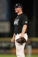 Pitcher/First Baseman Robbie Coman (13) of Park Vista High School, committed to Virginia, participates in the Team One Futures Game East at Roger Dean Stadium in Jupiter, Florida September 25, 2010..  Photo By Mike Janes/Four Seam Images