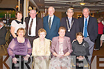DINNER: Member's of the Kerry association of Cork enjoying at the Kerry Supporters annual dinner at the Ballygarry House hotel and Spa on Saturday seated l-r: Marjorie Flynn, Anne Dineen, Anne O'Regan (secretary) and Siobhan Brosnan. Back l-r: Kit Ryan and Ted O'Regan, Kilmoyley, Frank Corrigan, Michael Dineeen (president) and Denis Brosnan..