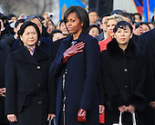 United States first lady Michelle Obama attends a State arrival ceremony honoring President Hu Jintao of China on the South Lawn of the White House, Wednesday, January 19, 2011 in Washington, DC. Obama and Hu are scheduled to meet in the Oval Office later in the day, hold a joint press conference and attend a State dinner.  .Credit: Mark Wilson / Pool via CNP