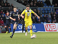 Kenny McLean shooting in the Ross County v St Mirren Scottish Professional Football League match played at the Global Energy Stadium, Dingwall on 17.1.15.