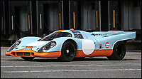 BNPS.co.uk (01202 558833)<br /> Pic: MathieuHeurtault/Gooding&amp;Company/BNPS<br /> <br /> The iconic Porsche from Steve McQueen's legendary film Le Mans is expected to race away at auction for &pound;12million. <br /> <br /> The stunning 917K was used as a test car for the 1970 24 Hours of Le Mans, which Porsche won, before gracing the silver screen a year later. <br /> <br /> Following its brush with fame the famous motor was left to languish in a barn for 25 years before being rediscovered in 2001, when it underwent an extensive restoration. <br /> <br /> The history-steeped car will be sold by a European collector through Gooding &amp; Company auctioneer in Pebble Beach, California, on August 18.