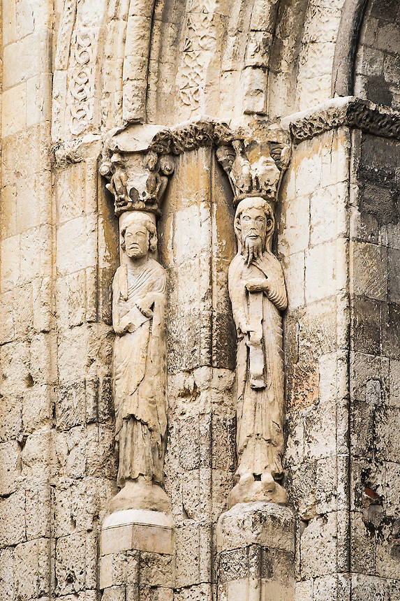 Exterior saint figures, Church of San Martin, Segovia, Spain
