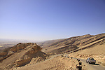 Israel, Negev, Akrabim ascent overlooking Zin valley .