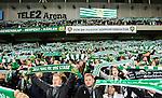 Stockholm 2015-10-25 Fotboll Allsvenskan Hammarby IF - Malm&ouml; FF :  <br /> Hammarbys supportrar med halsdukar under matchen mellan Hammarby IF och Malm&ouml; FF <br /> (Foto: Kenta J&ouml;nsson) Nyckelord:  Fotboll Allsvenskan Tele2 Arena Hammarby HIF Bajen Malm&ouml; FF MFF supporter fans publik supporters