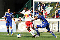 Salou Ibrahim #29, Craig Rocastle...Kansas City were defeated 3-0 by New York Red Bulls at Community America Ballpark, Kansas City, Kansas.