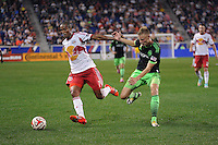HARRISON, NJ - Saturday September 20, 2014: The New York Red Bulls take on Seattle Sounders FC at home at Red Bull Arena in regular season MLS play.