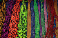 Beads for sale at the Market, near a Temple in Kathmandu Nepal