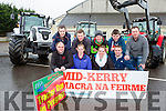 The Mid Kerry Macra na feirme tractor run will be held in Milltown on Sunday 20th March at the launch in Milltown Mart were front row Padraig Clifford, Michelle Flynn, Karen Flynn, James O'Connor, back row: Shane Clifford, Trevor Coffey, Sean Joy, Patrick Clifford and Niall Flahive