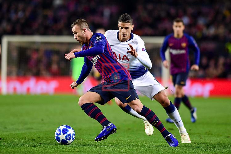 UEFA Champions League 2018/2019 - Matchday 6.<br /> FC Barcelona vs Tottenham Hotspur FC: 1-1.<br /> Arthur vs Walker-Peters.