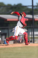 Roberto Moya (63) of Monsignor Edward Pace High School in Hialeah, Florida during the Under Armour Baseball Factory National Showcase, Florida, presented by Baseball Factory on June 13, 2018 the Joe DiMaggio Sports Complex in Clearwater, Florida.  (Nathan Ray/Four Seam Images)