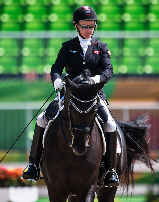 RIO DE JANEIRO - 13/09/2016 Lauren Barwick competes in Women's Dressage Team Test Grade II at the Rio 2016 Paralympic Games at the Olympic Equestrian Centre. (Photo by Angela Burger/Canadian Paralympic Committee)