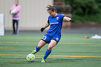 Seattle, Washington - Saturday May 14, 2016: Seattle Reign FC defender Kendall Fletcher (13) first half of a match at Memorial Stadium on Saturday May 14, 2016 in Seattle, Washington. The match ended in a 1-1 draw.