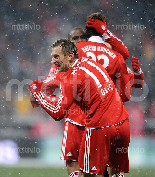 Fussball 1. Bundesliga :  Saison   2009/2010   17. Spieltag  19.12.2009 FC Bayern Muenchen - Hertha BSC Berlin ,  Jubel , Ivica Olic  (FCB)