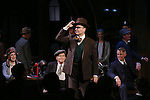 """Holland Taylor, Robert Morse, Jefferson Mays and John Slattery during the Broadway Opening Night performance curtain call bows for """"The Front Page""""  at the Broadhurst Theatre on October 20, 2016 in New York City."""