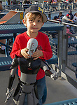 "Four-year-old Luca with a Star Wars action figure during the Reno Aces ""Star Wars Night"" in Reno on Saturday, June 8, 2019."