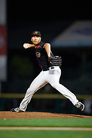 Rochester Red Wings relief pitcher Michael Tonkin (20) delivers a pitch during a game against the Buffalo Bisons on August 25, 2017 at Frontier Field in Rochester, New York.  Buffalo defeated Rochester 2-1 in eleven innings.  (Mike Janes/Four Seam Images)